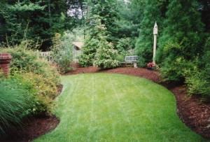 мульчирование сада