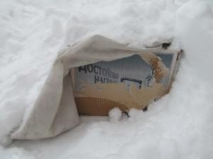 прикоп в снег